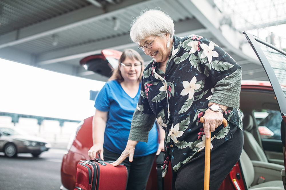 Airport Ride For Senior Woman